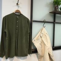 ブルガリアタイプグランパシャツ(全3カラー)