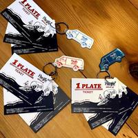 3 PLATE TICKETS  & KEY RING(3プレートチケット&キーホルダー )
