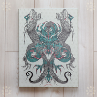Purification Dragon / 三ツ首琥珀主竜画