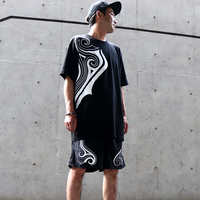 42 TRIBAL BIG T-SHIRTS ( BLK - WHT  )
