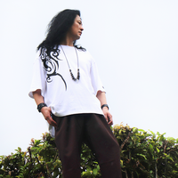 PEACE TRIBAL OVER-T(WHT)