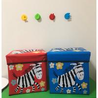 ★売り切りSALE価格★アニマル💛シマウマ収納BOX(おもちゃ箱)
