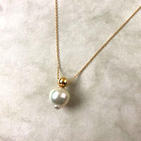 Ball necklace Akoya baroque