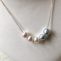 Through necklace Akoya 5pearl 7mm