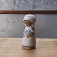 vintage 陶器の少女/置物(ペッパー入れ)
