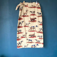 vintage cotton skirt(巻きスカート)82cm