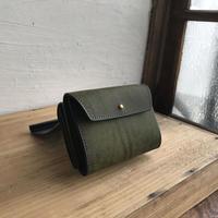 革職人lampan二つ折り財布(深緑)