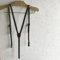 革職人本革lampanサスペンダー(深いオリーブ色)