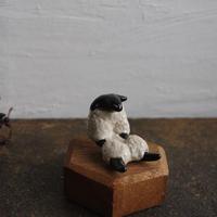 民芸箸枕鶴子・箸置き/白羊(座り姿)