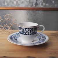 1960年代■東洋陶器/青い花のカップ&ソーサー