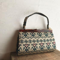 vintage 着物bag ▷持ち手裏使用感あり