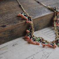 pecoranera original costume jewelry /coral  necklace
