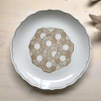 和と洋の間/27.5cm花模様大皿