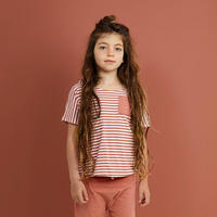 """【 GRAY LABEL 2020SS】Pocket Tee  """"ワイドTシャツ"""" / Faded Red/Off White Stripe / 80-90cm"""