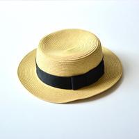 "【 Chocolatesoup 20SS 】PAPER BRAID KANKAN HAT "" カンカン帽 "" / BLACK"