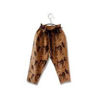 "【 michirico 21SS 】Flora and fauna pants (MR21SS-14)"" パンツ"" / キャメル / L (115-130cm)"