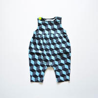"""【 franky grow 2020SS 】19SCS-351 NO SLEEVES ROMPURS """" ロンパース """" / GRAY CUBE"""