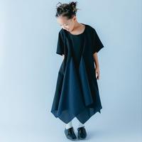 【 nunuforme 21SS 】フリルエッジワンピース [04-nf15-442-009] / Black / キッズ