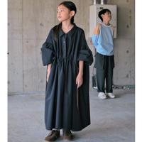 ao様専用決済ページ【 SWOON 2020AW 】ドローストリングギャザードレス [5-sw14-404-115] / Navy / size XL