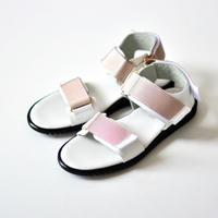 "【 NINOS 20SS 】WP Sandal(NTC021 ) "" 海水OK!レザーサンダル "" / White x Nude / 22.5 - 24.5cm"