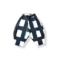 "【 franky grow 21SS 】ORIG. CHECK BIG PANTS [21SBT-235] "" パンツ "" / WHITE-BLACK / LL(9〜11歳)"