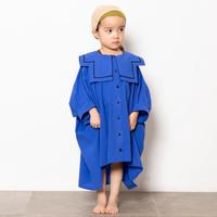 "【 folk made 21SS 】sailor collar shirts "" カラーシャツ "" / blue / S-M"