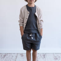 "【 MY LITTLE COZMO 20SS 】JACKET KIDS - SENA ORGANIC- USHIK86   "" カーディガン ""  /  STONE/  3  -  8歳"