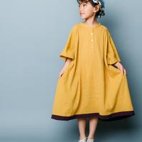 【 nunuforme 2020SS 】クレープギャザーコクーンワンピース [nf13-426-083A] / Mustard / 155 - F(レディース)