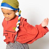 "【 folk made 21SS 】sailor collar shirts "" カラーシャツ "" / brick red / L(125-140)"