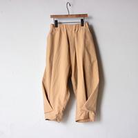【 nunuforme 2020AW 】ヘムダブルタックパンツ [12-nf14-630-015A] / Beige / 155-大人