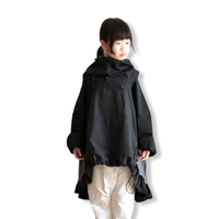【 nunuforme 2020AW 】フリルミックスパーカー [45-nf14-560-104A] / Black  / 155-大人