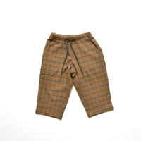 "【 MOUN TEN. 20AW 】check warm tapered  [MT202034] "" パンツ ""  / brown"