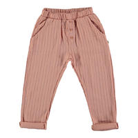 "【 MY LITTLE COZMO 20SS 】TROUSERS KIDS - GRETA  -SABANAK81  "" パンツ ""  / PEACH PINSTRIPE /  3  -  8歳"