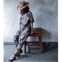 "【 michirico 21SS 】Flora and fauna pants (MR21SS-15)"" パンツ"" / チャコール / 大人サイズ"