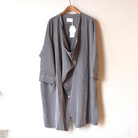【 nunuforme 2020AW 】シャツコート [43-nf14-212-100A] / Charcoal / 155-大人