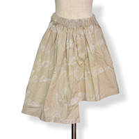 "【 UNIONINI 21SS 】SK-005 embroidery asymmetry skirt  "" スカート ""  / beige"