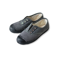 【 La Cadena 20AW 】 INGLES PARTIDO ELA Y.P. CLASSIC SLIP-ON / GREY × BLACK SOLE / 17〜21cm