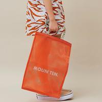 """【 MOUN TEN. 21SS 】mesh tote  [21S-MA34-0948] """"メッシュバッグ"""" / orange"""