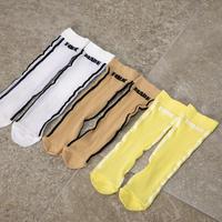 """【 folk made 21SS 】soft touch rogo socks """" ソックス """" / beige ×black"""