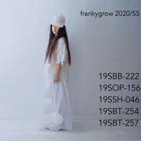 【 franky grow 2020SS 】19SOP-156 QUILTING DOT FRILL DRESS / SOFT PINK – WHITE