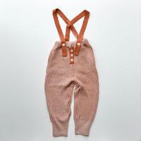 "【 folk made 2020AW 】rib stitch suspenders pants [F20AW-023] "" パンツ "" / orange / LL(140-155)"