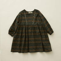 "【 eLfinFolk 20AW 】castle printed dress(elf-202F04)""ワンピース"" / dark green  / size 110-130"