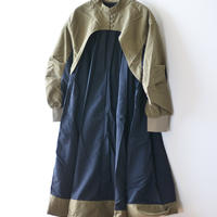 【 nunuforme 21AW 】コンビワンピース / 14-nf16-446-138A / Khaki×Navy / レディース