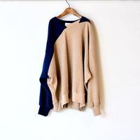 【 nunuforme 2020AW 】ダイアゴナルT [32-nf14-803-592] / Brown