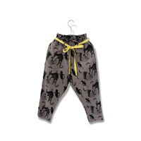 "【 michirico 21SS 】Flora and fauna pants (MR21SS-14)"" パンツ"" / チャコール / L (115-130cm)"