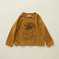 "【 eLfinFolk 20AW 】MIRAgE town long sleeve-T(elf-202J01)""カットソー"" / mustard  / size 110-130"