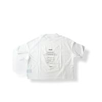 "【 UNIONINI 21SS 】""WORD"" tee  "" Tシャツ ""  / white / 大人サイズ"