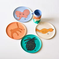 【 Bobo Choses 2020SS 】12070003	A Dance Romance Bamboo Plates Pack of 4