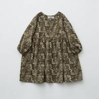 【 eLfinFolk 2019AW 】elf-192F05 ALfaFolk emblem print dress / brown / 110 - 130cm