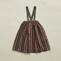 【 eLfinFolk 2020SS 】elf-201F36 regimen stripe skirt / brown/ 90, 110, 130cm